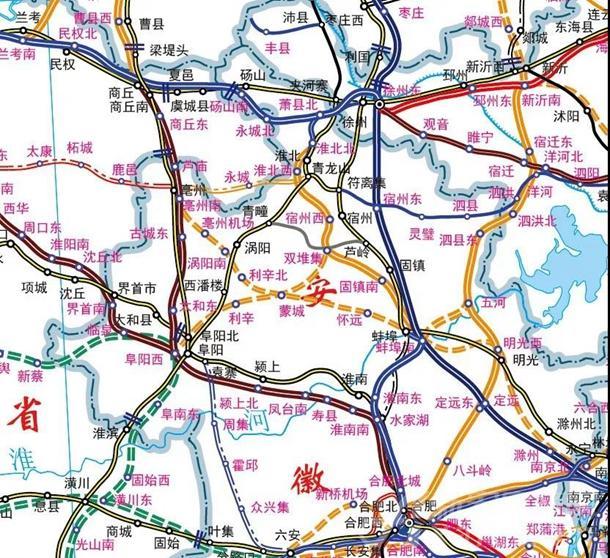 皖北城际铁路规划预测图