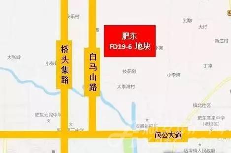 肥东县FD19-6地块位置