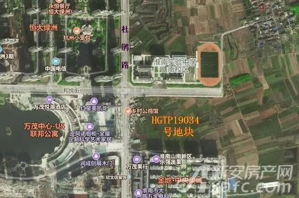 山南新区HGTP19034号地块卫星图