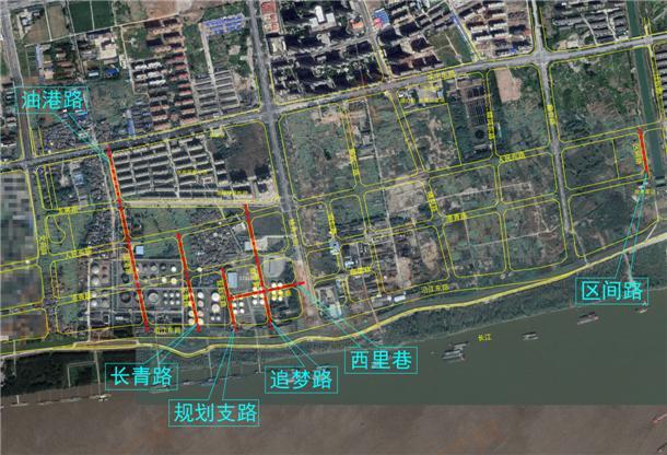 滨江CBD道路区域位置图