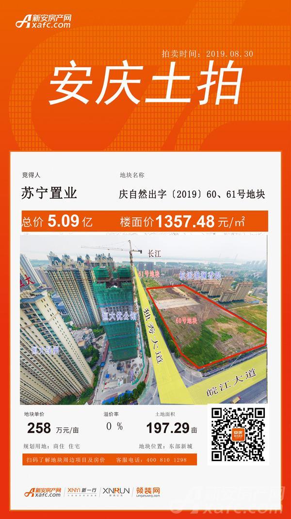 苏宁摘60-61号地块 建一站式家庭智慧商业综合体