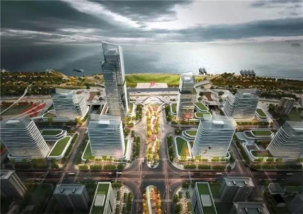 安庆滨江CBD片区规划效果图