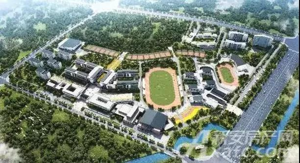 宣城北师打校园鸟瞰图