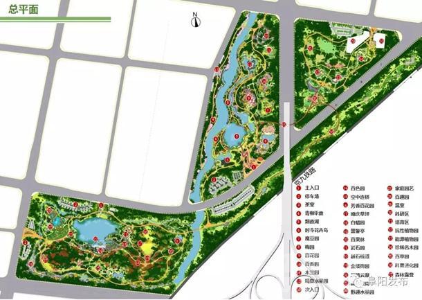 阜阳植物园总平面图