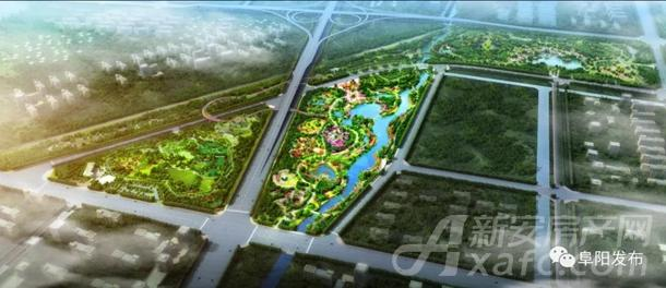 阜阳植物园鸟瞰图