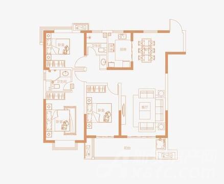 129㎡-3室2厅2卫