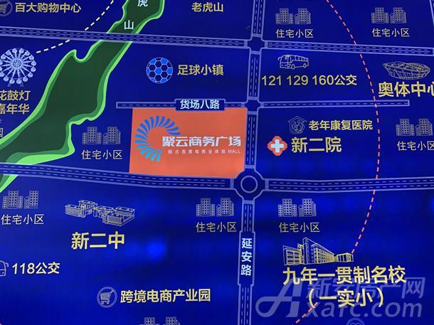 聚云商务广场方位图