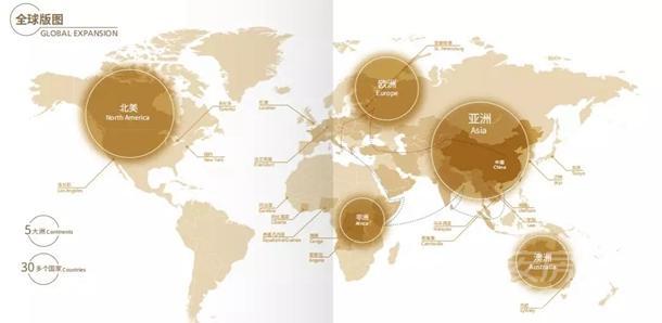 绿地集团全球版图