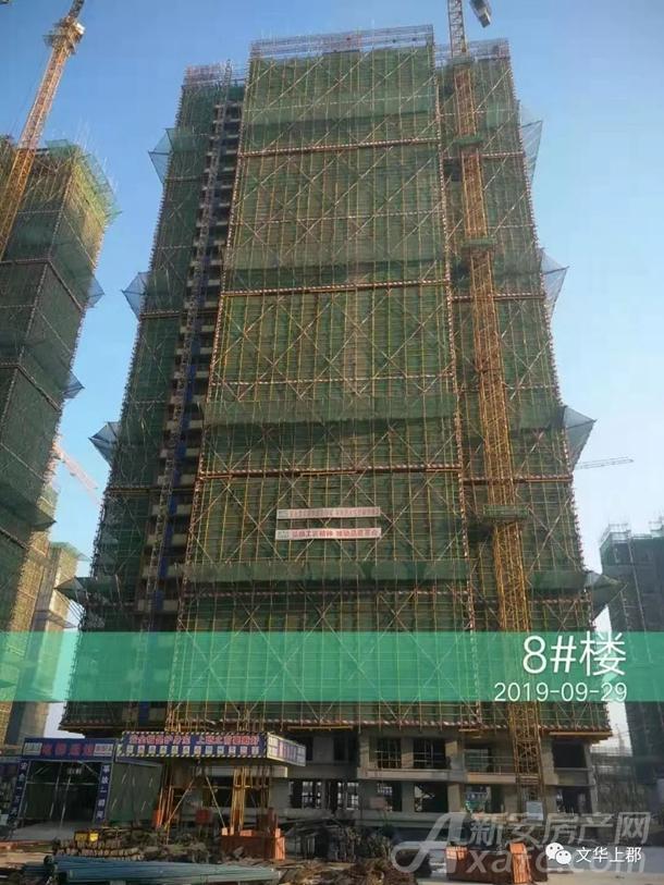 [融信海亮文华上郡]8#楼工程进度