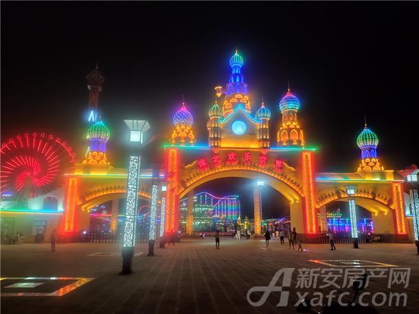 淮北欢乐世界夜景