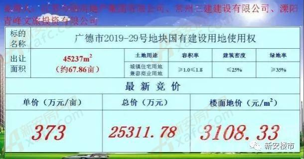广德市2019-29号地块成功拍卖