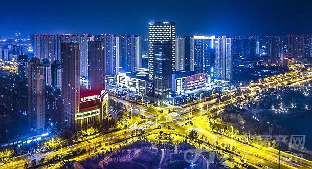 阜阳城市夜景