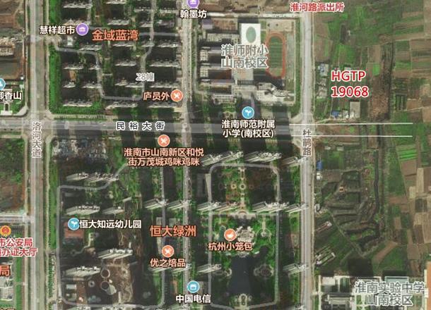 山南新区HGTP19068号地块卫星图