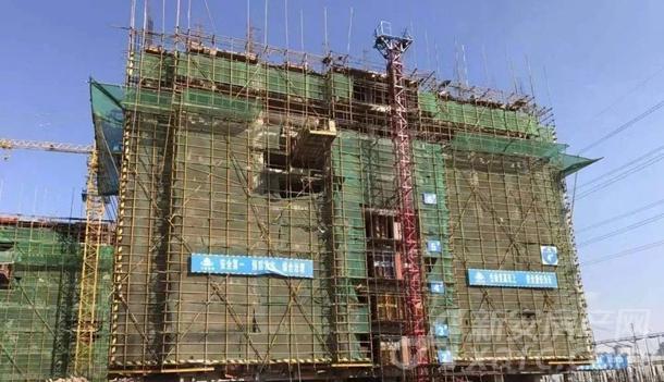 4#楼主体结构11层施工(共12层)