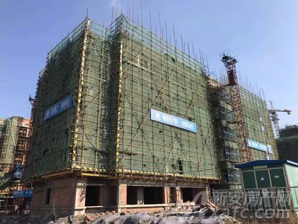 1#楼主体结构验收完成,保温2-4层完成