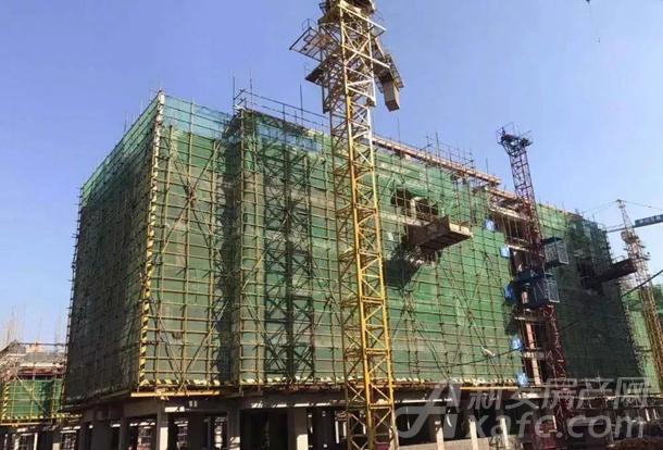 6#楼主体结构完成,墙体砌筑2-4层完成(共6层)