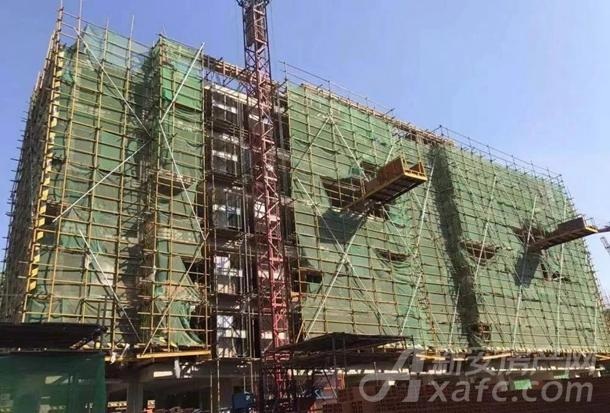 5#楼墙体砌筑完成,二次结构完成