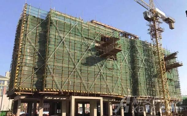 15#主体结构封顶,墙体砌筑完成