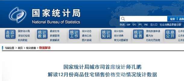 国家统计局官网截图