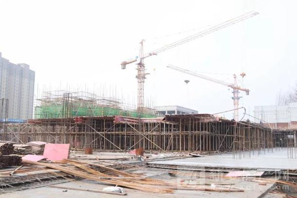 新城阜阳大都会一月工程进度