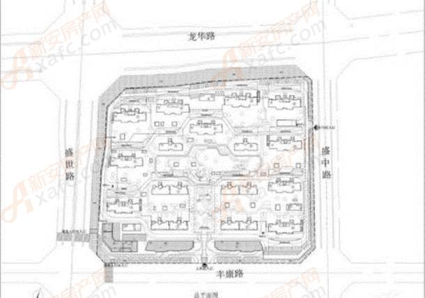 中梁·淮风十里规划图